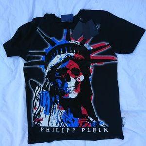 PHILIPP PLEIN CASUAL MEN T-SHIRT %100 COTTON NWT